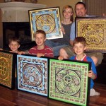 The Gardner family presents their paintings