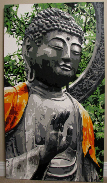 Buddha head and torso