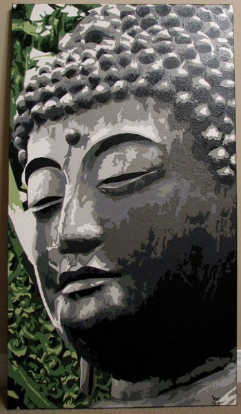 Buddha head closeup