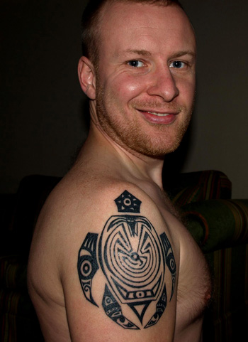 Jan's Turtle Tattoo In November 2009 a young man from the Czech Republic
